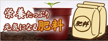 ガーデニング資材の「肥料」